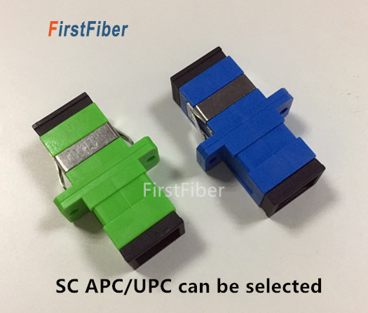 1pcs SC APC/UPC Fiber Optic Connector SC APC/UPC Adapter SC Fiber Optic Connector ,flange SC Connector Simplex Single Mode