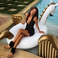 Pool Toys Summer Holiday 2.5m Inflatable Air Pegasus Pool Float Babrit Floating boia inflatable swan flotador piscina Drop ship
