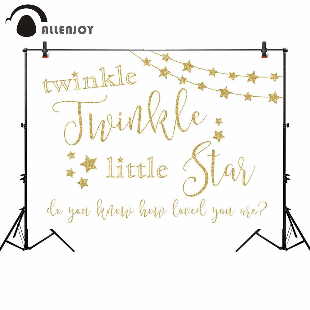 Allenjoy photographic wall-papers photo background twinkle twinkle little star sweet heart my love golden backdrops photocall