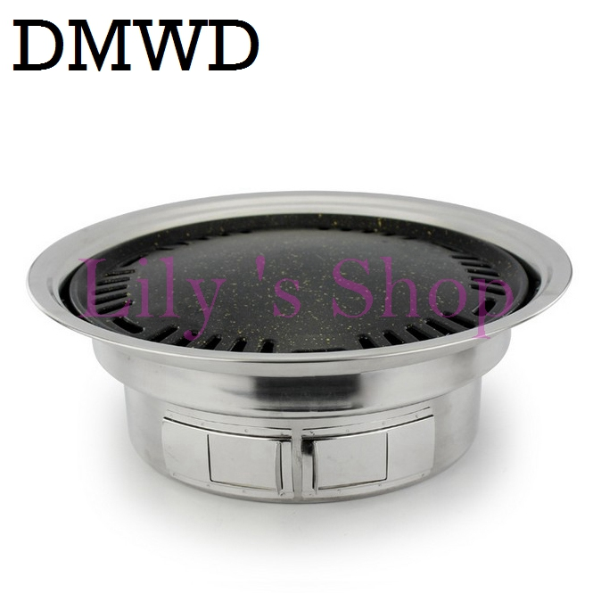 DMWD Roasting stove Commercial outdoor camping portable Charcoal BBQ Grill non-stick smokeless Barbecue pan picnic Kebab machine outdoor infrared gas bbq grill smokeless barbecue lpg cooking stove non stick pan portable barbecue oven ye102