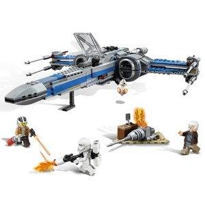 Image 4 - Star Wars 75149 de 75218 bloques de primer orden Poe X ala del combatiente modelo bloques de construcción de Star Wars ladrillos regalo de juguetes de los niños