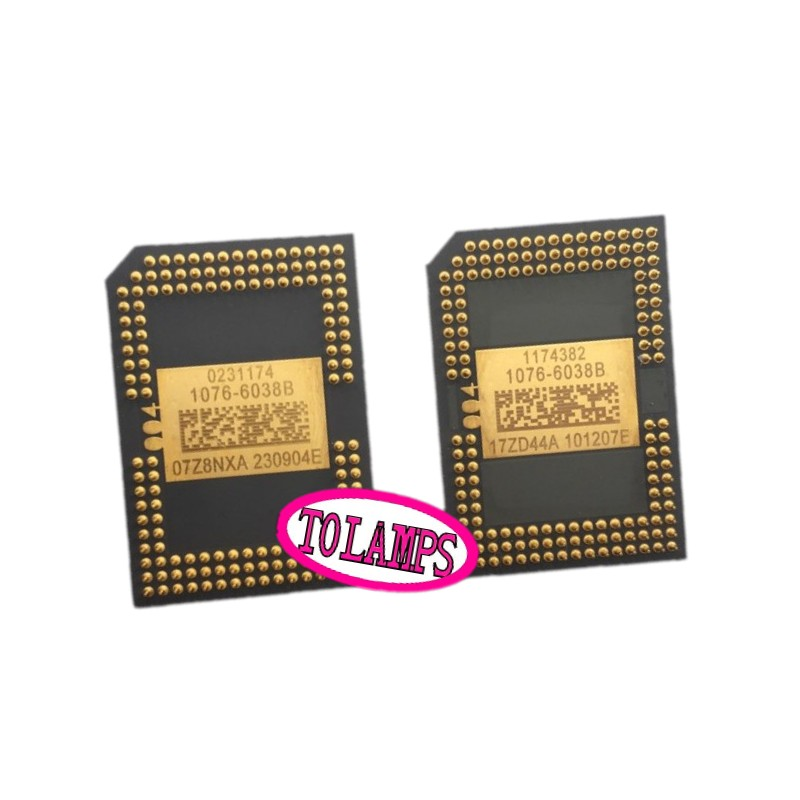 second hand DMD CHIP 1076-6038B /1076-6039B / 1076-6138B / 1076-6139B / 1076-601AB / 1076-6238B / 1076-6339B For Many Projectors free shipping second hand 1280 6038b 1280 6039b dmd chip for is500 mw512 in3116 w600 with 1 month