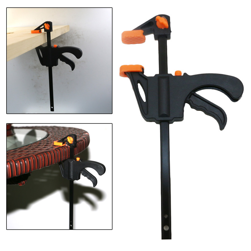 1Pc 4 Inch Quick Grip Clip Woodworking Clamp Ratchet Bar Fast Release F Shape Speed Squeeze DIY Hand Tool