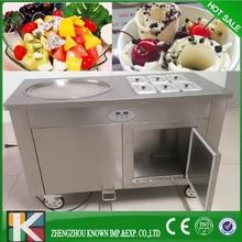 Round 1+6 thailand rolled fried ice cream machine/stir fry ice cream machine