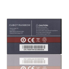 100% New Original Cubot Rainbow Battery 2200mAh Replacement For Cubot Rainbow Smart Phone+In Stock +In stock in stock 100%new and original 3 years warranty at xper40 xfp 1550nm 40km