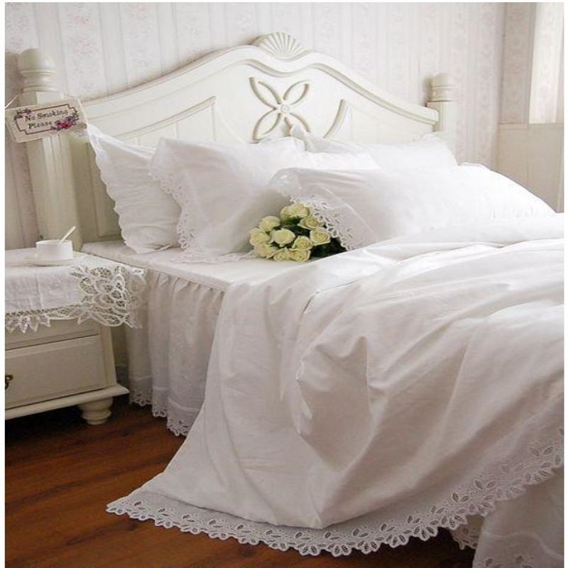 White Queen Bed Aliexpress.com : Buy Hollow Out Embroidery Bedding Set
