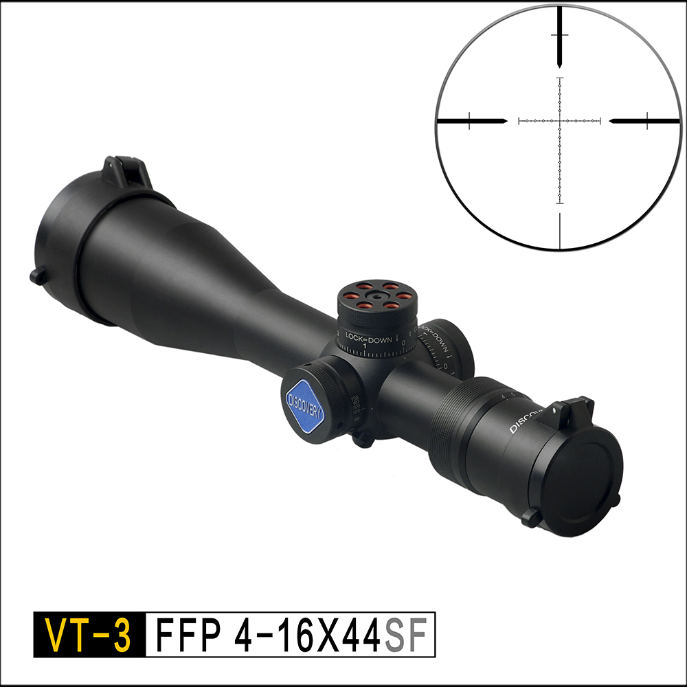 Discovery FFP Hunting Optical VT-3 4-16X44 SF First Focal Length Compact Sight Sniper Tactical Airgun Rifle Scope Fit .308win