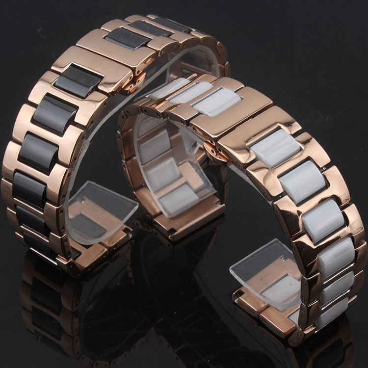 New Style Fashion Metal With Ceramic Watchband bracelet band Gear S3 huawei new Watch accessories 16mm 20mm 22mm for smart watch