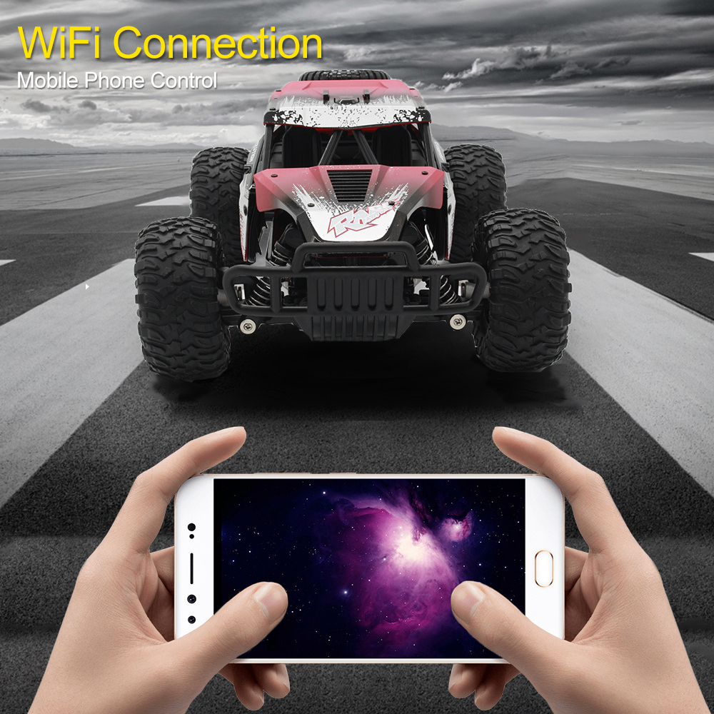 2.4G RC Car High-speed Electric Offroad Vehicle Mobile Phone Wifi Link Control With High-definition Camera Kids Gifts TSLM1