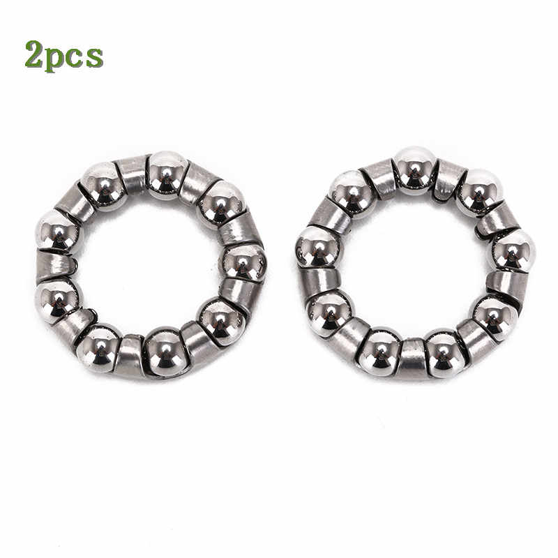 2pcs bicycle rear wheel axle 6 ball bearing cages bike cycling shaft  NM/%uS/_ma
