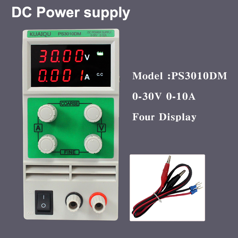 Adjustable School laboratory Power Supply,Digital Variable Voltage regulator 30V 10A 0.01V 0.001A Four display DC Power supply four digit display rps3003c 2 adjustable dc power supply 30v 3a linear power supply repair
