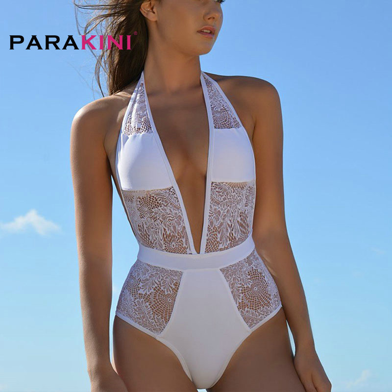 Sports & Entertainment Parakini 2018 Sexy Lace One-pieces Swimsuits Xxl Bathing Suits Women High Cut Monokini Swim Suits Lace Swimwear Tankini Trikinis