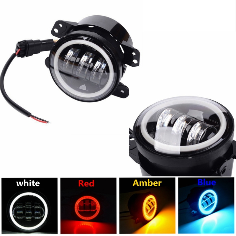For Jeep Wrangler 97 16 JK TJ LJ ATV 4 Inch 30W LED Fog Lights with