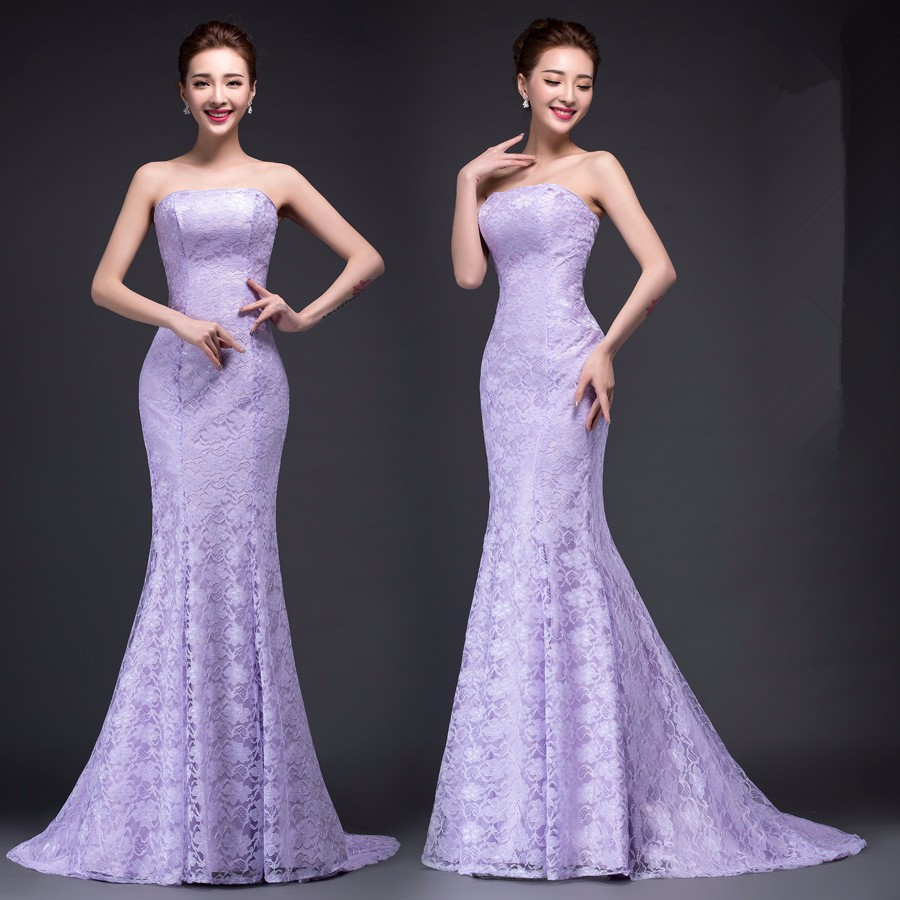 Image 3 - DM2670B#Spring summer new 2019 fish lace up tail sexy long Dresses bride toast wedding dress Gril Wholesale women clothing cheap-in Wedding Dresses from Weddings & Events
