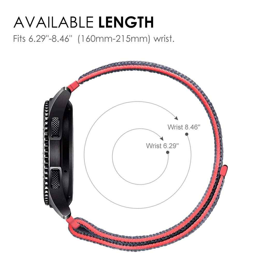 22mm 20mm Nylon Loop Band For Samsung Galaxy Watch 46mm 42mm Strap For Samsung Gear S3 Frontier Classic Gear S2 Amazfit bip