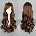 HAIRJOY 4 Colors Ariel Cosplay Wigs Princess Long Wavy Synthetic Lolita Wigs Blue Pink Brown Grey Costume Wig