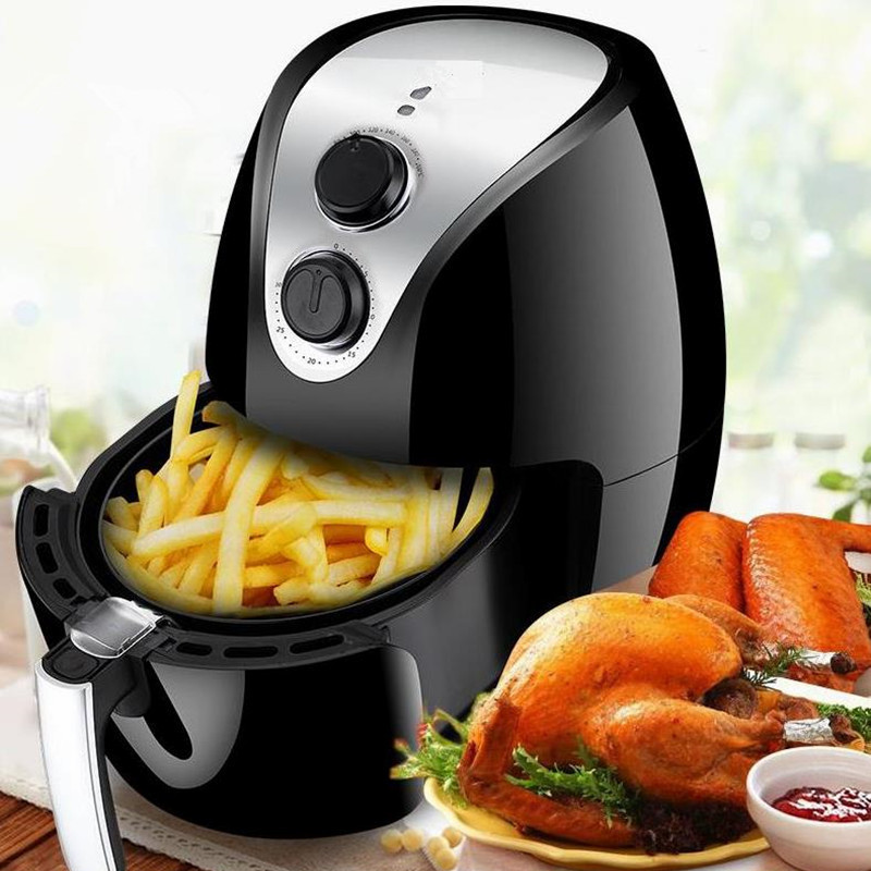 2.6L Air Fryer Without Large Capacity Electric Frying Pan Frying Pan Machine Fries chicken wings Intelligent Deep Electric Fryer