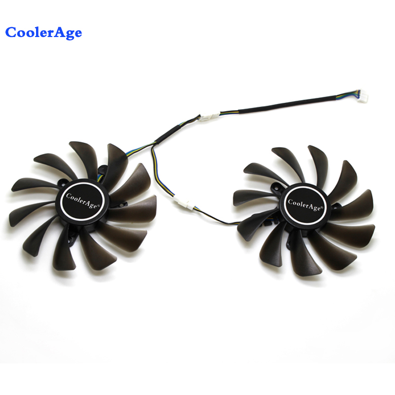 New 95mm 4Pin Cooler Fan Replacement For ZOTAC Geforce GTX 1080 Ti GTX 1080Ti AMP Edition VGA Graphics Card Cooling Fan image