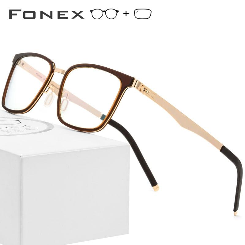 671d9728a2 Montura de gafas de prescripción TR90 para hombres gafas cuadradas 2019  nuevos monturas ópticas de miopía gafas de mujer sin tornillos -  a.empyeria.me