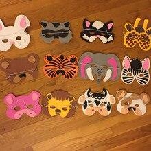 Máscara de animais dos desenhos animados, para festa de aniversário, crianças, presente, fantasia, zoológico, máscara de festa, decoração de halloween