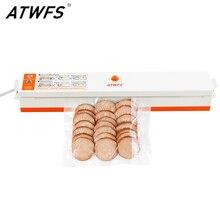 Atwfs aferidor do vácuo máquina de selagem embalagem melhor portátil aferidor do vácuo de alimentos empacotador da cozinha com 15 pces saco vácuo para a poupança de alimentos