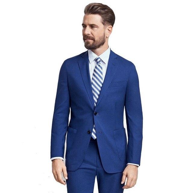 Aliexpress.com : Buy 2017 custom royal blue men suits Groom ...