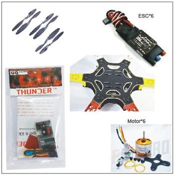 ФОТО f05114-v f550 drone flamewheel kit with qq hy esc motor carbon fiber propellers +freeship