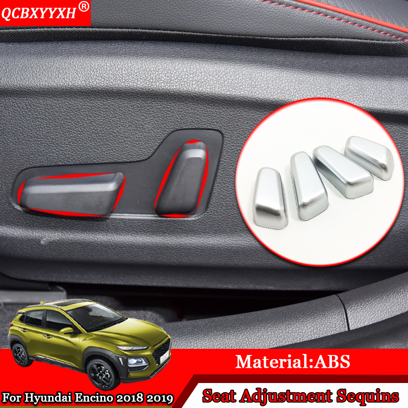 Car Styling Fit For Hyundai Kona Kauai 2018 2019 Rear: Car Styling ABS Car Interior Seat Adjustment Decoration