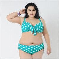 Vintage Dot Bikinis Mujer Plus Size Swimwear Summer Sexy Push Up Large Size XL 5XL Halter
