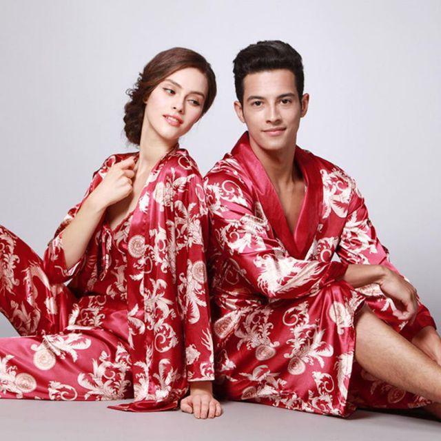 1226849634 3 Pcs Female Lounge Sleepwear Robe Pajama Pants Sets Ladies Print Dragon  Night Pajama Sets