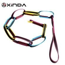 Sprzęt do wspinaczki XINDA pierścień do formowania zjazdowego połączenie szeregowe lina Daisy nylonowe połączenie szeregowe System kotwicy osobistej