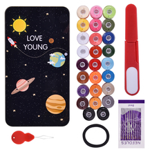 24 Color Polyester Sewing Thread and Quilting Tools Multifunctional Supplies Kit for Machine Hand Stitching Embroidery