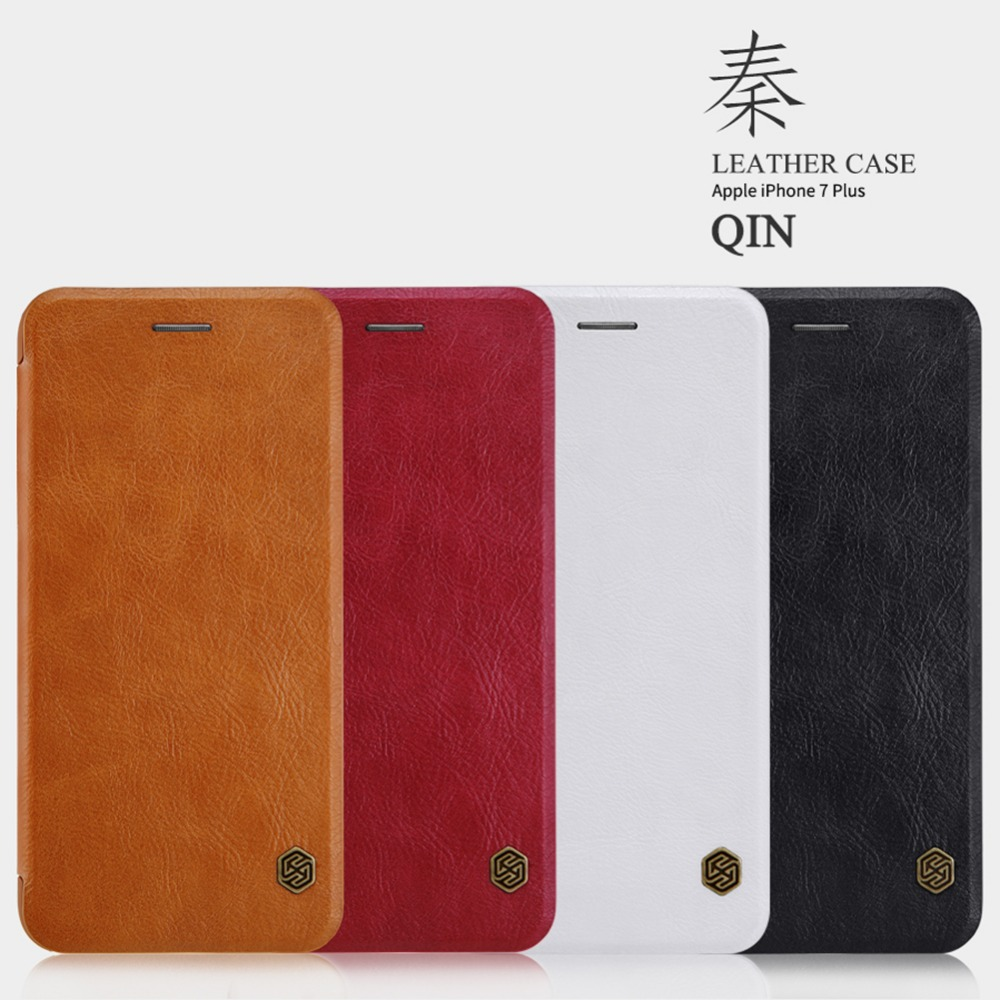 NILLKIN Мобильный телефон сумка для iPhone 7 s плюс роскошный искусственная кожа ультра флип чехол для iPhone 7 <font><b>Plus</b></font> держателя карты крышка стенд верхней&#8230;