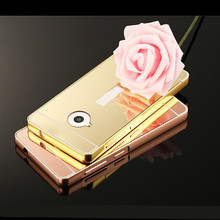 Luxury Rose gold Mirror Aluminum Plating Metal frame Phone Case For Nokia Microsoft Lumia 535 550 630 640XL 650 830 930 1520