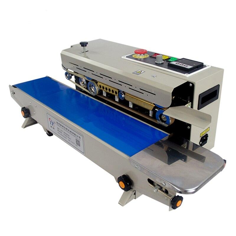 Continue Auto Film D'étanchéité Machine Horizontale PVC Membrane Sac Film Scellant Température Contrôle avec 2 Marque Roues