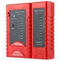 NSHL-916 S Red de Cable Tester RJ45 RJ11 CAT5 UTP LAN Herramienta de Red