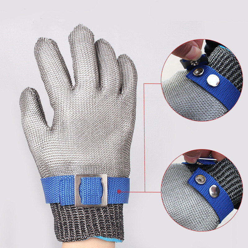 NEW Durable Hig quality Safety Cut Proof Stab Resistant Protect Glove 100% Stainless Steel Metal Mesh Butcher Working GlovesNEW Durable Hig quality Safety Cut Proof Stab Resistant Protect Glove 100% Stainless Steel Metal Mesh Butcher Working Gloves