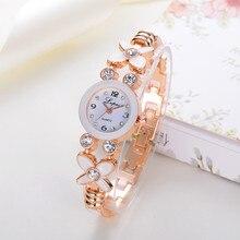 Luxury Brand Women Flower Watches Quartz Ladies Stainless Steel Bracelet Watch Dress Clock Hours montre Femme reloj mujer #126