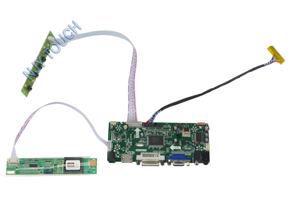 M.NT68676.2A Universal HDMI VGA DVI Audio LCD Controller Board for 15.4inch 1280x800 B154EW08 LVDS Monitor Kit for Raspberry Pi jean paul gaultier vintage двубортное пальто