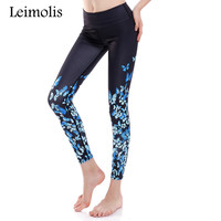 5cef4be845 3D Print Retro Blue Butterfly Winter Warm Harajuku Adventure Time Workout  Push Up Spandex Plus Size