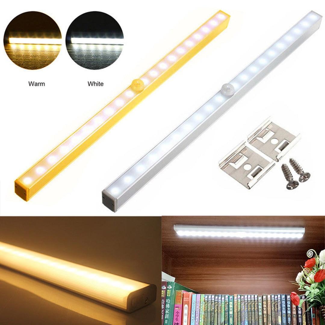Portable Wireless 20 LED Cabinet Light Motion Sensor LED Night Light  Under Cabinet Closet Warm light MAYITR