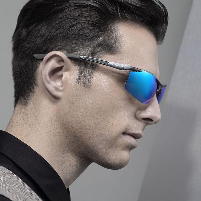 Авиатор Алюминий Магний Солнцезащитные очки поляризованные Для мужчин покрытие зеркало вождения солнцезащитные очки Óculos Мужской очки акс...