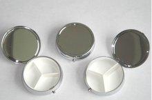 100pcs scatole di Pillola del Metallo DIY Medicina Organizer contenitore dargento Trasporto Libero