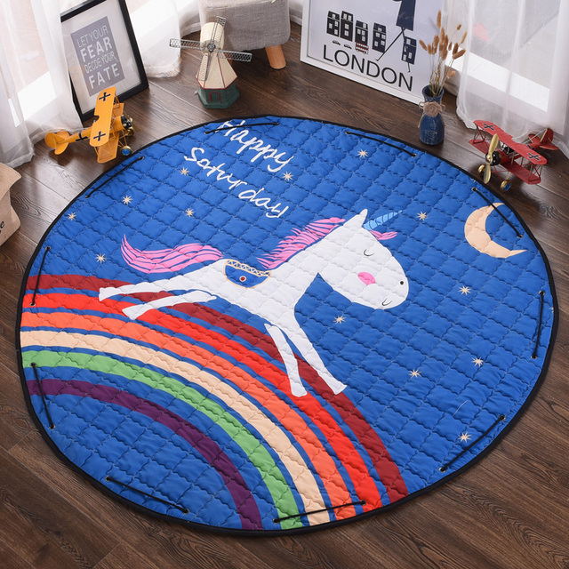 58 Inches Cotton Play Mat Playmat Baby Floor Mats Kids Toy Storage