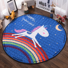 58 Inches Cotton Play Mat Playmat Baby Floor Mats Kids Toy Storage Bag Thicken Non-slip Home Rug Children Room Decoration 150CM