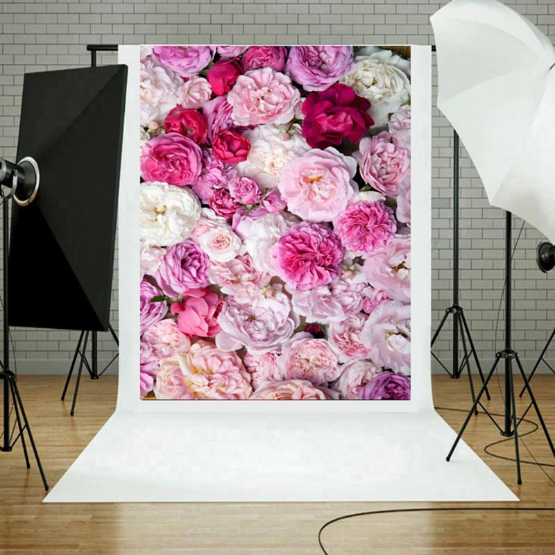 Blossom Flowers Wall Wedding Portrait Photography Backgrounds Photo Studio Shooting Backdrops Backgrounds Photography Props цена