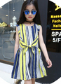 2016 summer children clothing sleeveless colorful striped baby girls dress for girls children clothes causal linen dress
