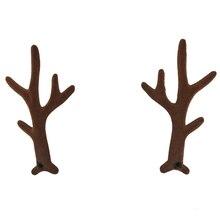 100pairs/lot 3 Deer Antler DIY Christmas Party Supply in Stock Handmade Buckhorn Accessory MOMLOVEDIY