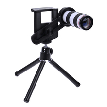 Cheap price 12X Mobile Phone Telephoto Lens Telescope Monocular with Tripod Stand Bracket for Mobile Phone Camera Photography