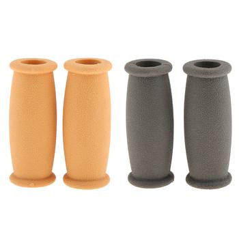2 pary uchwyty do kierownicy kuli gumowe antypoślizgowe miękkie mocne uchwyty uchwyty ściskacz wymiana kuli akcesoria ręczne uchwyty kuli tanie i dobre opinie Footful